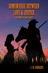 """Somewhere Between Love and Justice"" cover art by Cindy Bamford"